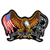 Hot Leathers Embroidered Patch -  POW-MIA Eagle
