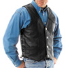 River Road Wyoming Nickel Leather Motorcycle Vest
