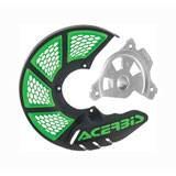 Acerbis X-Brake Vented Front Disc Cover with Mounting Kit Black/Green