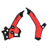 Acerbis X-Grip Frame Guards Black/Red