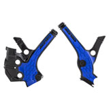 Acerbis X-Grip Frame Guards Black/Blue