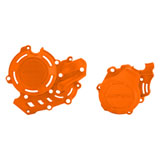 Acerbis X-Power Crankcase and Ignition/Clutch Cover Kit Orange