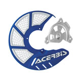 Acerbis X-Brake Vented Front Disc Cover with Mounting Kit Blue/White
