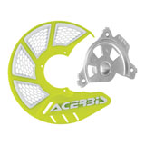 Acerbis X-Brake Vented Front Disc Cover with Mounting Kit Flo Yellow/White