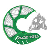 Acerbis X-Brake Vented Front Disc Cover with Mounting Kit Green/White