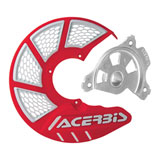 Acerbis X-Brake Vented Front Disc Cover with Mounting Kit Red/White