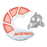 Acerbis X-Brake Vented Front Disc Cover with Mounting Kit White/16 KTM Orange