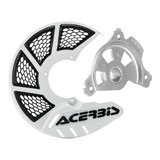 Acerbis X-Brake Vented Front Disc Cover with Mounting Kit White/Black