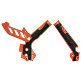 Acerbis X-Grip Frame Guards Orange/Black