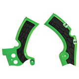 Acerbis X-Grip Frame Guards Green/Black