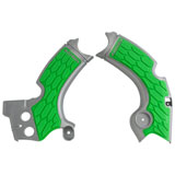 Acerbis X-Grip Frame Guards Silver/Green