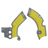 Acerbis X-Grip Frame Guards Grey/Yellow