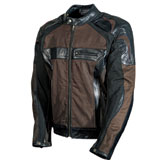AGV Sport Compass Waxed Cotton-Leather Motorcycle Jacket