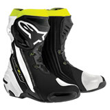 Alpinestars Supertech R Motorcycle Boots Black/White/Yellow