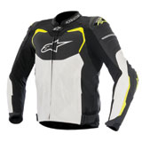 Alpinestars GP Pro Airflow Leather Jacket Black/White/Yellow