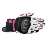 Alpinestars Women's Stella SP-X Air Carbon Leather Gloves Black/White/Pink