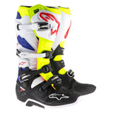 Alpinestars Tech 7 Boots 2019 White/Fluorescent Yellow/Blue