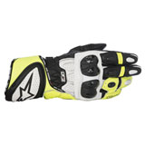 Alpinestars GP Plus R Leather Gloves Black/White/Yellow
