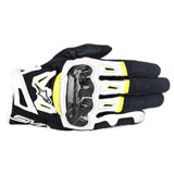 Alpinestars SMX-2 Air Carbon Gloves Black/White/Yellow