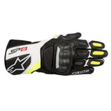 Alpinestars SP-8 Gloves Black/White/Yellow