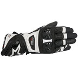 Alpinestars Supertech Leather Gloves Black/White
