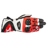 Alpinestars Supertech Leather Gloves Black/White/Red