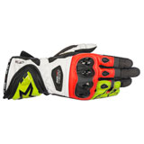 Alpinestars Supertech Leather Gloves Black/Yellow/Red