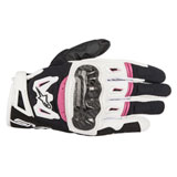 Alpinestars Women's Stella SMX-2 Air Carbon Gloves Black/White/Pink