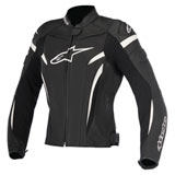 Alpinestars Women's Stella GP Plus R v2 Leather Jacket Black/White