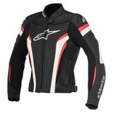 Alpinestars Women's Stella GP Plus R v2 Leather Jacket Black/White/Red