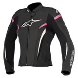 Alpinestars Women's Stella GP Plus R v2 Perforated Leather Jacket Black/White/Pink