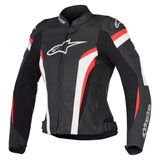 Alpinestars Women's Stella GP Plus R v2 Perforated Leather Jacket Black/White/Red