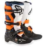 Alpinestars Youth Tech 7S Boots Black/Orange/Blue