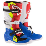 Alpinestars Youth Tech 7S Boots Blue/White/Red/Yellow