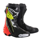 Alpinestars Supertech R Motorcycle Boots Black/Red/Yellow