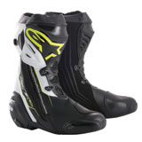 Alpinestars Supertech R Motorcycle Boots Black/Yellow/White