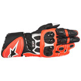 Alpinestars GP Plus R Leather Gloves White/Black/Red