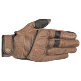 Alpinestars Oscar Crazy Eight Leather Gloves Brown