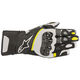 Alpinestars SP-2 V2 Leather Gloves Black/White/Yellow