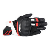 Alpinestars SP-5 Leather Gloves Black/White/Red