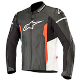 Alpinestars Faster Leather Jacket Black/White/Red