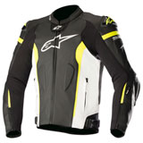 Alpinestars Missile Tech-Air Race Leather Jacket Black/White/Yellow