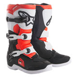Alpinestars Youth Tech 3S Boots Black/White/Flo Red