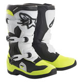 Alpinestars Youth Tech 3S Boots Black/White/Flo Yellow