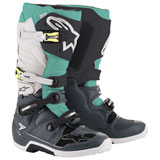 Alpinestars Tech 7 Boots  Dark Grey/Teal/White