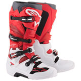 Alpinestars Tech 7 Boots  White/Red/Burgundy