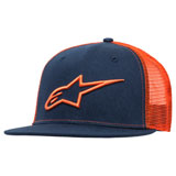 Alpinestars Corp Snapback Trucker Hat Navy/Orange