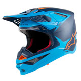 Alpinestars Supertech M10 MIPS Helmet Black/Aqua/Orange