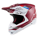 Alpinestars Supertech M8 Contact MIPS Helmet Dark Red/White