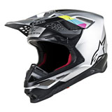 Alpinestars Supertech M8 Contact MIPS Helmet Silver/Black